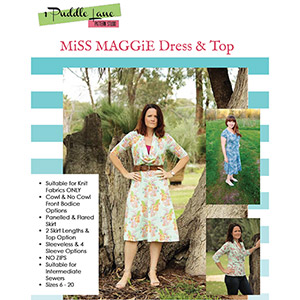 1 Puddle Lane Miss Maggie Dress and Top Sewing Pattern