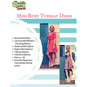 1 Puddle Lane Miss Ruby Tuesday Dress and Top Sewing Pattern