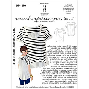 Hot Patterns Blouse-Back Tee Sewing Pattern