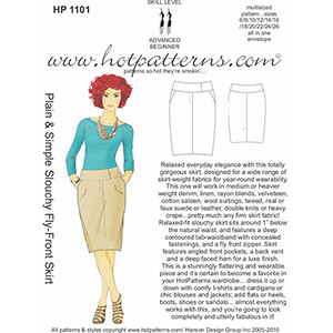 Hot Patterns Slouchy Fly-Front Skirt Sewing Pattern