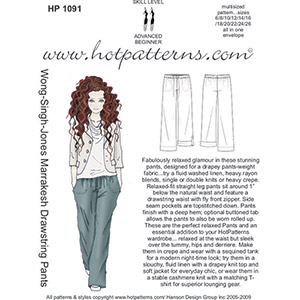 Hot Patterns Marrakesh Pants Sewing Pattern