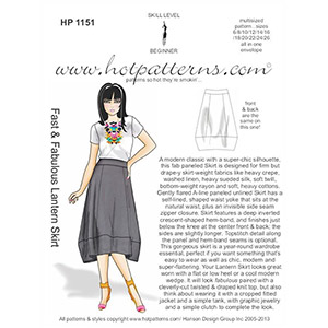 Hot Patterns Lantern Skirt Sewing Pattern