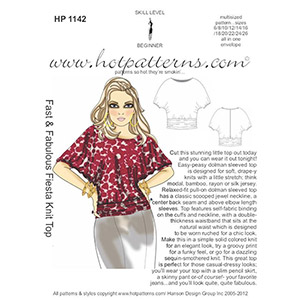 Hot Patterns Fiesta Knit Top Sewing Pattern