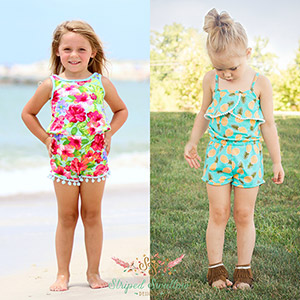 Striped Swallow Designs Girls Emerie Romper Sewing Pattern