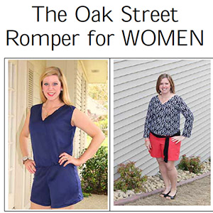 Seamingly Smitten Oak Street Romper Sewing Pattern