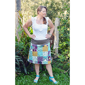 Passionately Sewn Patchwork A-Line Skirt Sewing Pattern