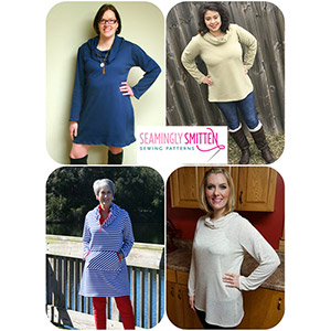 Seamingly Smitten Women\'s Cowl Neck Tunic Sewing Pattern
