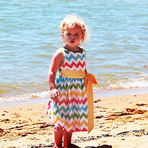 1 Puddle Lane Sweet Pea Wrap Dress Sewing Pattern