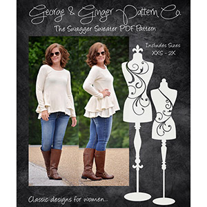 George & Ginger The Swagger Sweater Sewing Pattern