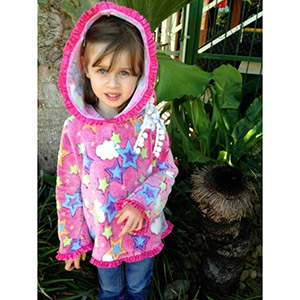 1 Puddle Lane Girls Pixie Hoodie Sewing Pattern