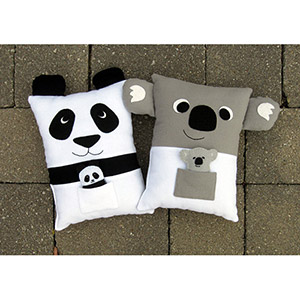 My Funny Buddy Koala and Panda Pillows with Babies Sewing Pattern