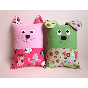 My Funny Buddy Dog and Cat Pillow Sewing Pattern