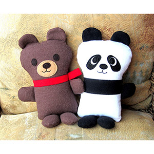 My Funny Buddy Teddy and Panda Bear Sewing Pattern