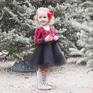 Petite Stitchery & Co Baby Mistletoe Dress Sewing Pattern
