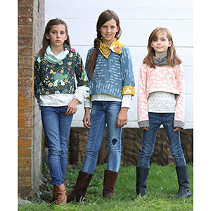 Petite Stitchery & Co Girls Rosemary Crop Sweater Sewing Pattern