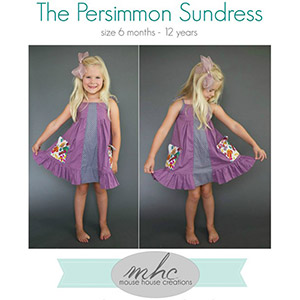 Mouse House Creations Persimmon Dress and Top Sewing Pattern