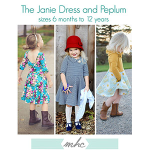 Mouse House Creations Janie Dress and Peplum Sewing Pattern