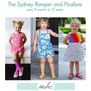 Mouse House Creations Sydney Romper and Pinafore Sewing Pattern