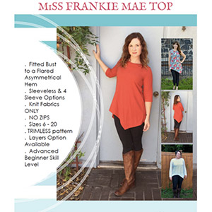 1 Puddle Lane Miss Frankie Mae Top Sewing Pattern