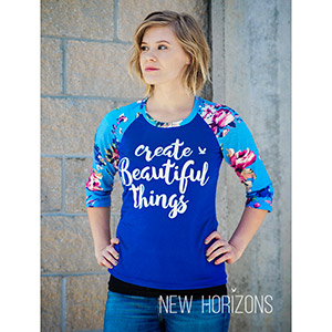 New Horizons Designs Riviera Raglan Sewing Pattern