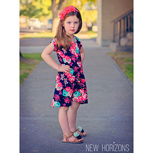 New Horizons Designs Girls Deer Creek Tunic and Dress Sewing Pattern