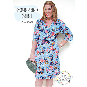 Sew To Grow Bowerbird Shift Dress Sewing Pattern