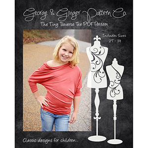 George & Ginger Tiny Traverse Tee Sewing Pattern
