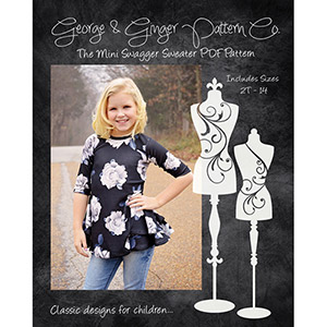 George & Ginger Mini Swagger Sweater Sewing Pattern