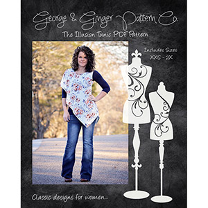 George & Ginger Illusion Tunic Sewing Pattern