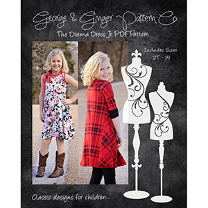 George & Ginger Drama Dress Junior Sewing Pattern