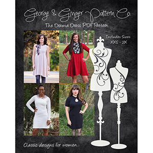 George & Ginger Drama Dress Sewing Pattern