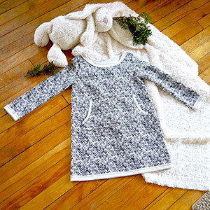 The Littlest Studio Sweater Dress Sewing Pattern