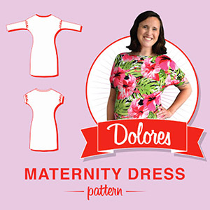 So, Zo... What do you know? Dolores Maternity Dress Sewing Pattern