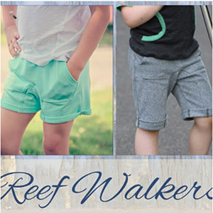 New Horizons Designs Reef Walker Shorts Sewing Pattern