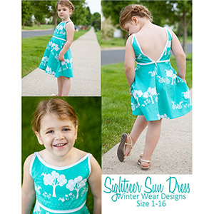 Winter Wear Designs Sightseer Sun Dress Sewing Pattern