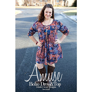 Winter Wear Designs Amuse Boho Top and Dress Sewing Pattern
