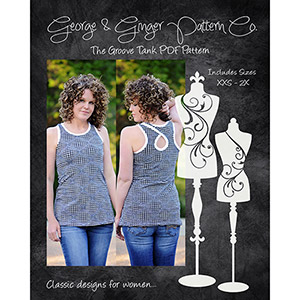 George & Ginger Groove Tank Sewing Pattern