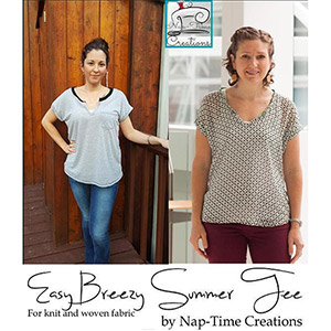 Life Sew Savory Easy Breezy Summer Tee Sewing Pattern