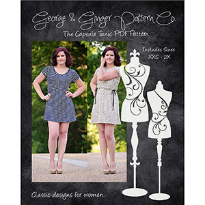 George & Ginger Capsule Tunic Dress Sewing Pattern