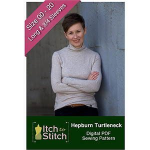 Itch to Stitch Hepburn Turtleneck Sewing Pattern