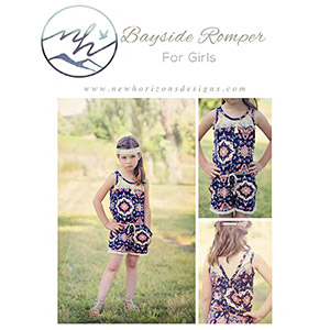 New Horizons Designs Girls Bayside Romper and Dress Sewing Pattern