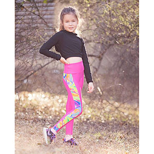 Greenstyle Patterns Girls Stride Athletic Tights Sewing Pattern