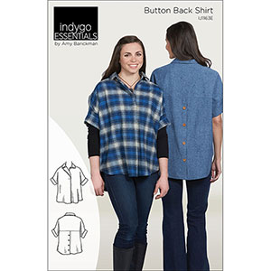Indygo Junction Button Back Shirt Sewing Pattern