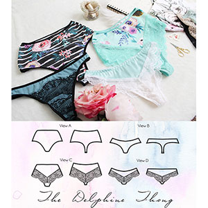 Ohhh LuLu Delphine Thong Sewing Pattern