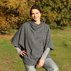 Zierstoff Patterns Juniors and Women\'s Luna Poncho Sewing Pattern