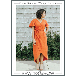 Sew to Grow CharliAnne Wrap Dress Sewing Pattern