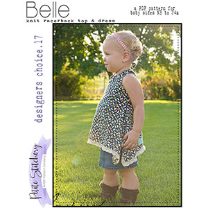 Petite Stitchery & Co. Baby Belle Racerback Top & Dress Sewing Pattern