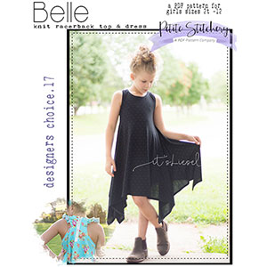 Petite Stitchery & Co. Girls Belle Racerback Top & Dress Sewing Pattern