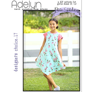Petite Stitchery & Co. Girls Adelyn Point Dress Sewing Pattern