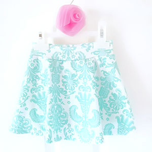 Valentine and Stitch Daisy Skirt for Girls Sewing Pattern